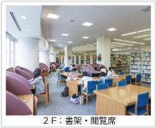 図書館2F:書架・閲覧席